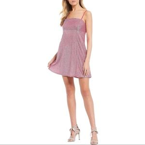 Spaghetti Strap Shimmer Slip Dress